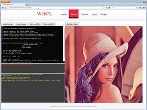 Nokia WebCL Kernel Toy Demo
