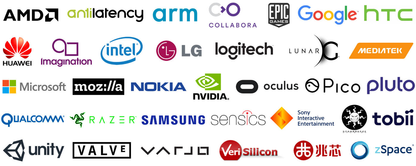 Companies Publicly SUpporting the Development of OpenXR