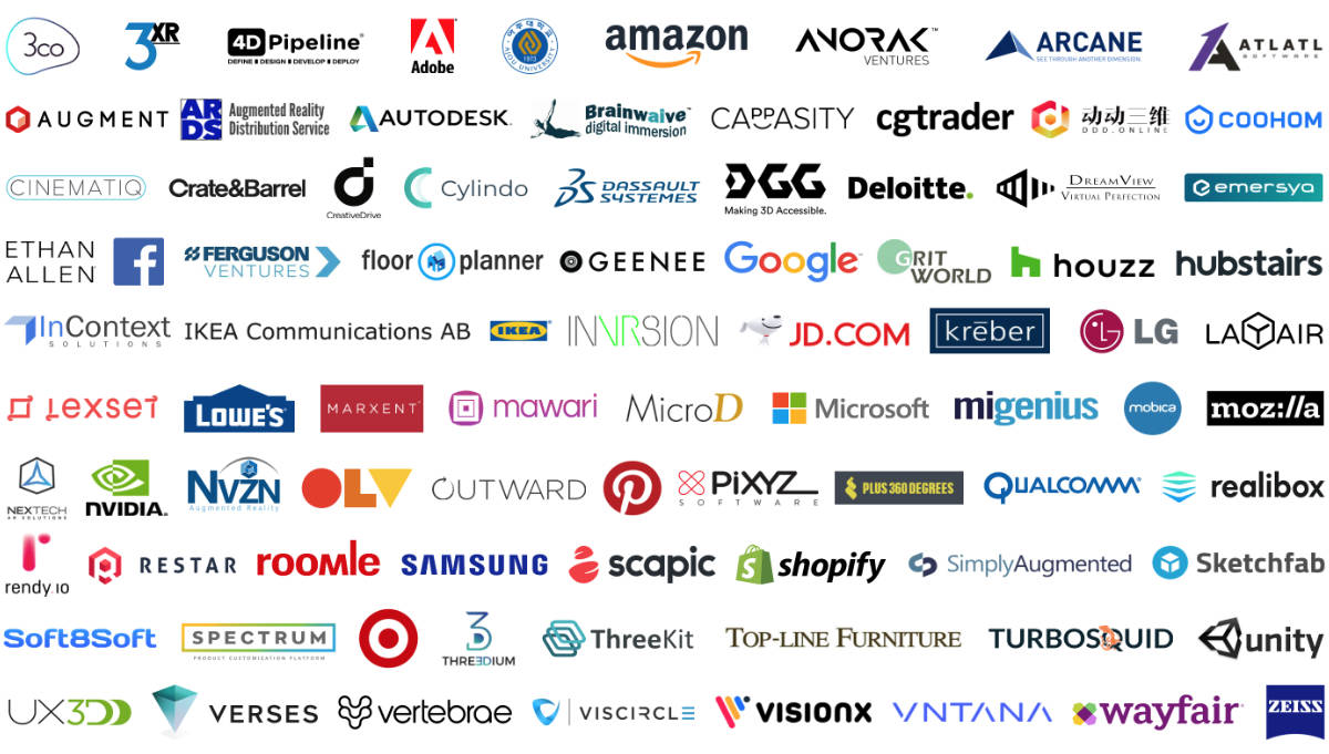 Logo field of companies supporting 3D Commerce