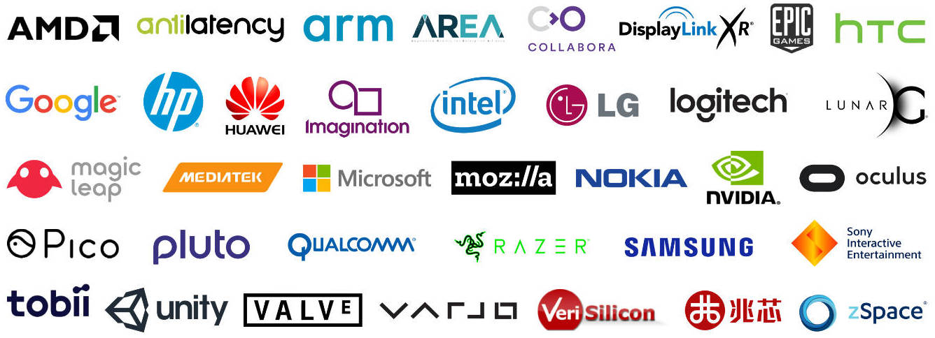 Company logos supporting OpenXR