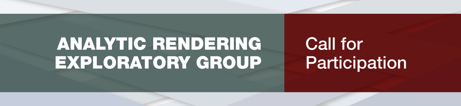 Analytic Rendering Exploratory Group - Call for Participation