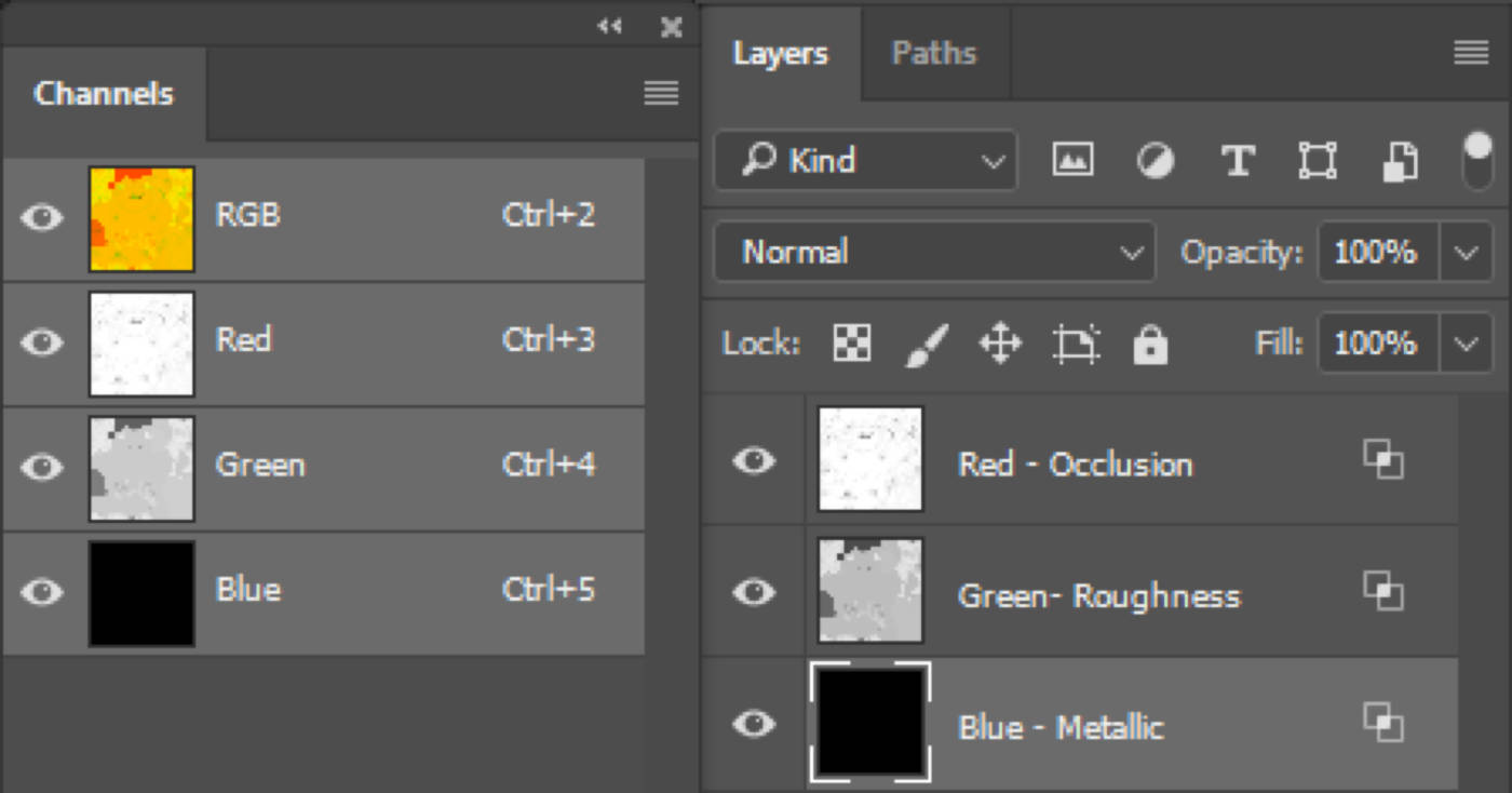 Layers and Channel options