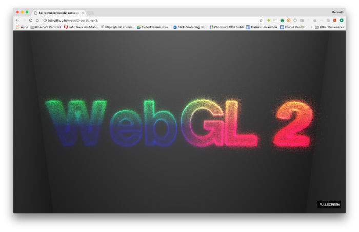 WebGL 2.0 Transform Feedback demoWebGL 2.0 Transform Feedback demo (live link, Github repository)