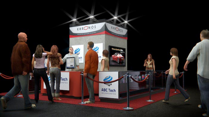 Khronos Booth at Siggraph rendering