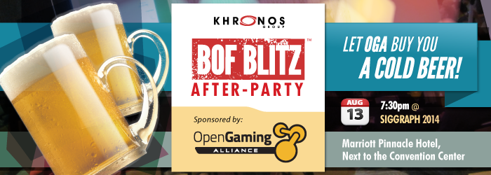 Open Gaming Alliance BOF Blitz After Party event